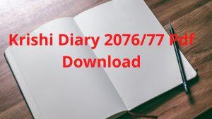 Krishi Diary, Krishidiary2077